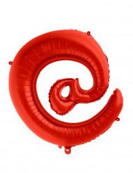 Globo aluminio gigante símbolo @ rojo 70 cm