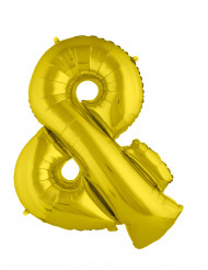 Globo aluminio gigante símbolo & dorado 80 cm