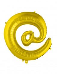 Globo aluminio gigante símbolo @ dorado 70 cm
