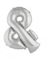 Globo aluminio gigante símbolo & plateado 80 cm