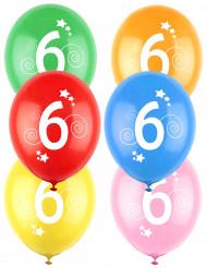12 Globos de colores número 6