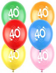 12 globos de colores 40 años