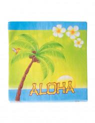 20 Servilletas de papel Aloha 33 x 33 cm