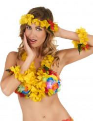 Set Hawái amarillo adulto