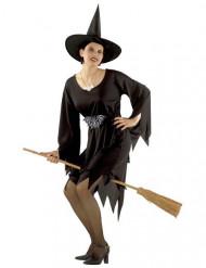 Disfraz bruja maga clásico Halloween para mujer negro