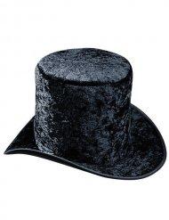 Sombrero de copa terciopelo negro