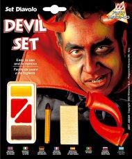 Kit maquillaje y cuernos diablo