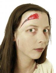 Maquillaje de herida falsa con cremallera