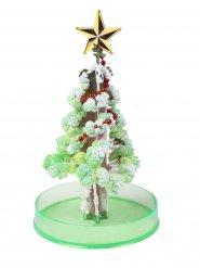 Árbol de Navidad verde  plateado 15 cm