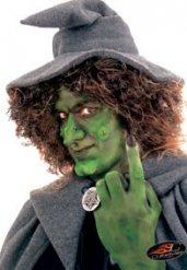 Nariz bruja con pegamento Halloween
