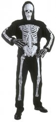 Disfraz esqueleto niño negro Halloween