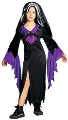 Disfraz bruja negro y morado niña