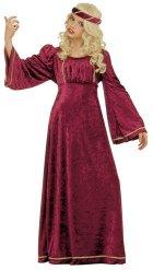 Disfraz princesa medieval rojo niña