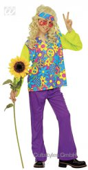 D¡sfraz hippie niño multicolor