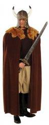 Capa vikingo marrón lujo adulto