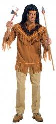 Camiseta indio flecos hombre marrón