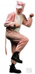 Disfraz de felino rosa adulto