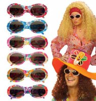 Gafas hippies multicolor para adulto