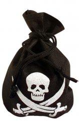 Bolso de pirata negro con calavera