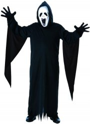 Disfraz niño fantasma grito negro y blanco