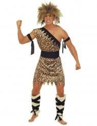 Disfraz hombre de cavernas adulto marrón