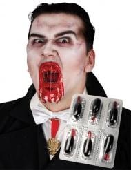 6 Cápsulas de imitación sangre Halloween