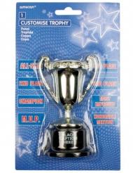 Mini trofeo de campión personalizable 12 cm