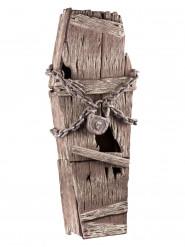 Ataúd de madera con cadenas 39 x 150 cm