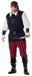 Disfraz pirata negro rojo blanco hombre