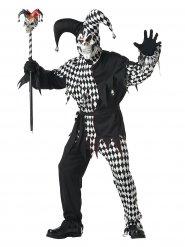 Disfraz de arlequín de Halloween negro