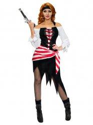 Disfraz de pirata tricolor mujer
