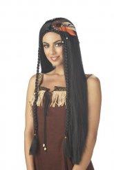 Peluca india pelolargo mujer negro