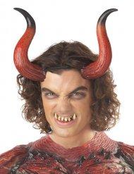 Cuernos y dientes demonio adulto