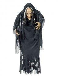 Decoración para colgar brujo negro y blanco 140 cm Halloween