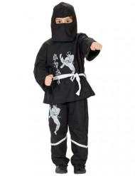 Disfraz ninja niño negro y blanco