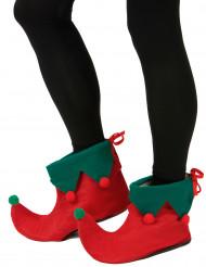 Cubre botas elfo con pompones adulto
