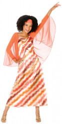 Disfraz reina disco multicolor mujer