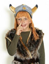 Casco vikingo terciopelo niño