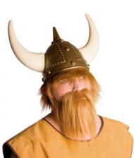Barba vikingo castaño claro