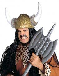 Casco vikingo con piel falsa adulto