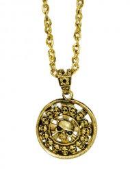 Medallón pirata dorado 5 cm