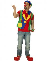 Chaleco payaso multicolor hombre