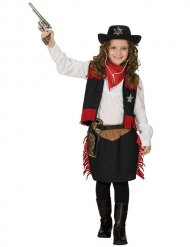 Disfraz vaquera western niña