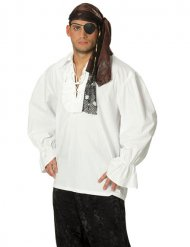 Camisa blanca de pirata adulto