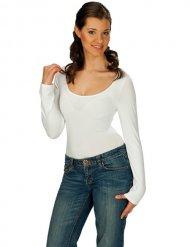 Body blanco manga larga adulto