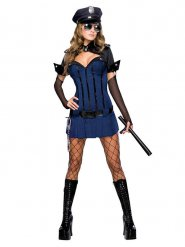 Disfraz sexy policía de noche mujer