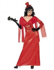 Disfraz mujer vampiro rojo