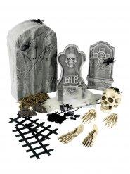 Decoraciones esqueletos y tumbas Halloween 21 piezas