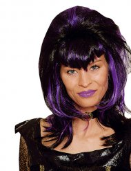 Peluca vampiro mujer negro y violeta