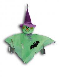 Decoración para colgar fantasma verde 33 cm